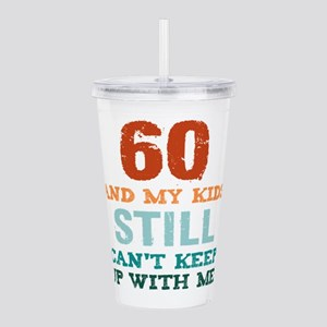 60th Birthday For Pare Acrylic Double-wall Tumbler