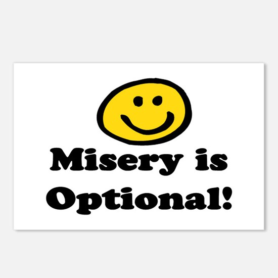 MISERY IS OPTIONAL Postcards (Package of 8)