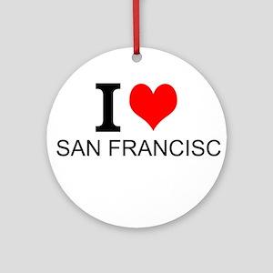 I Love San Francisco Ornament (Round)