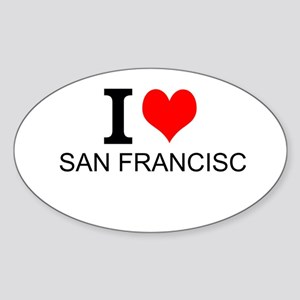I Love San Francisco Sticker