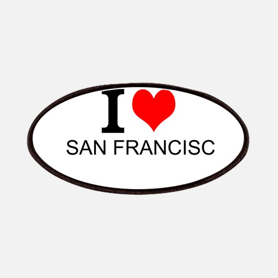 I Love San Francisco Patches