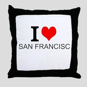 I Love San Francisco Throw Pillow