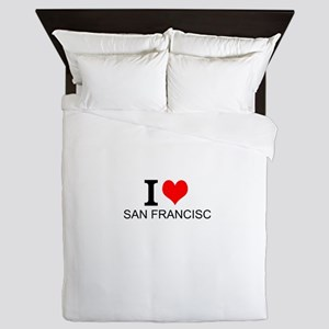 I Love San Francisco Queen Duvet