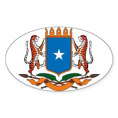 Somalia Coat of Arms Oval Sticker