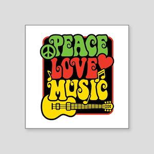 Rasta Peace Love Music Sticker