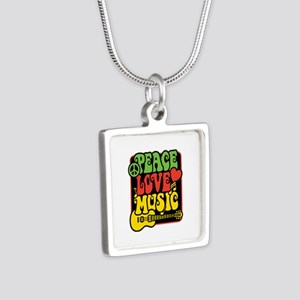 Rasta Peace Love Music Necklaces