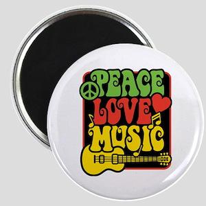Rasta Peace Love Music Magnets