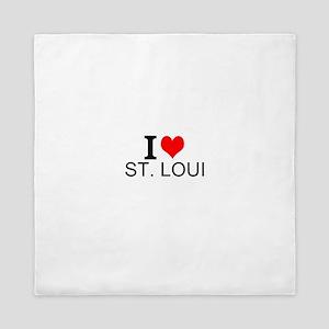 I Love St. Louis Queen Duvet