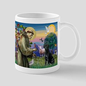 St.Francis & Black Labrador Retriever  Mug
