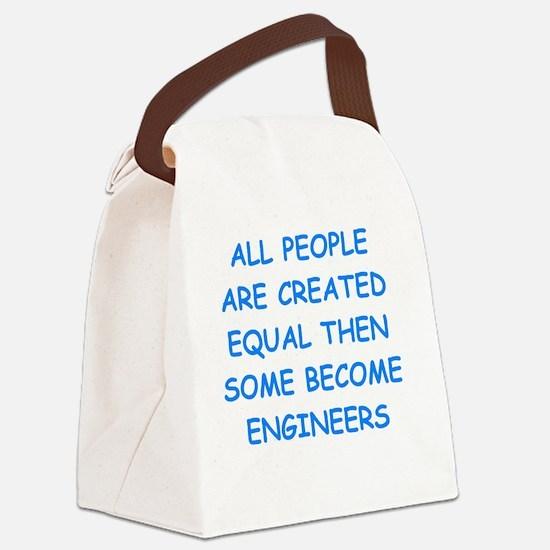 Cute Civil engineer Canvas Lunch Bag
