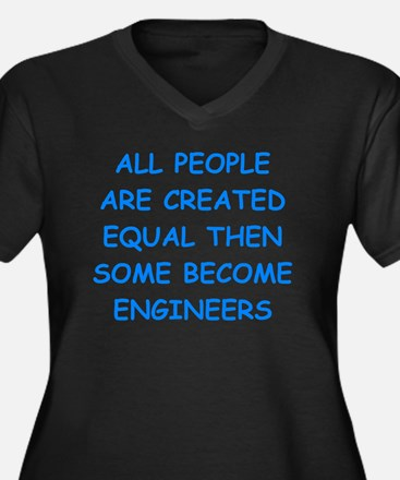 Cute Electrical engineering jokes Women's Plus Size V-Neck Dark T-Shirt
