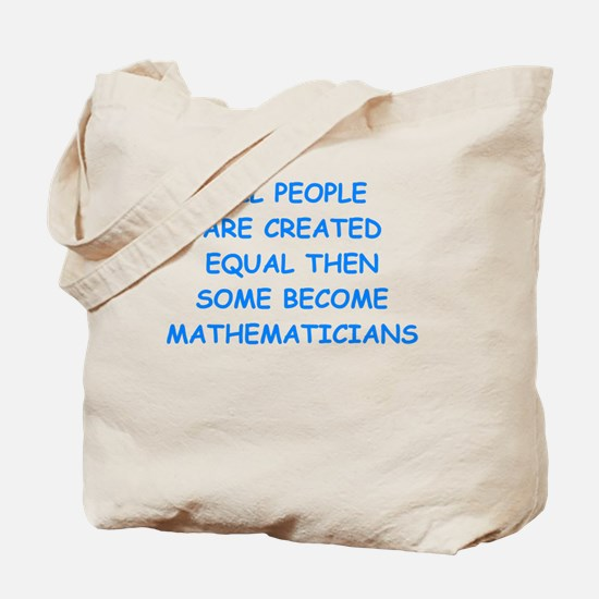 Cute Math phd Tote Bag