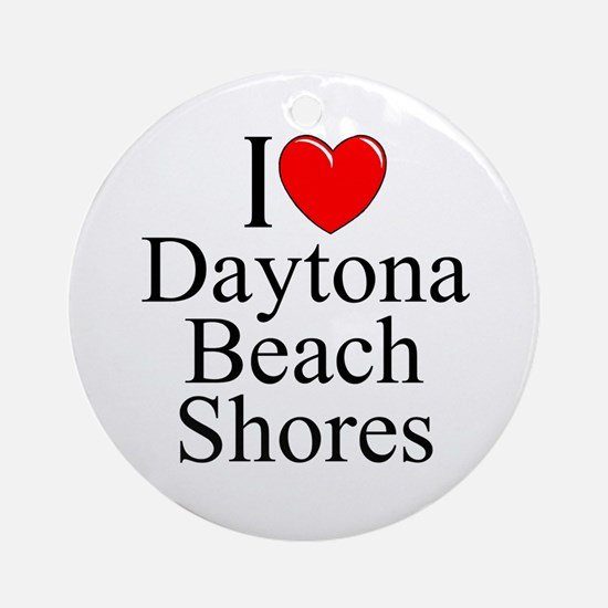 """""""I Love Daytona Beach Shores"""" Ornament (Round)"""