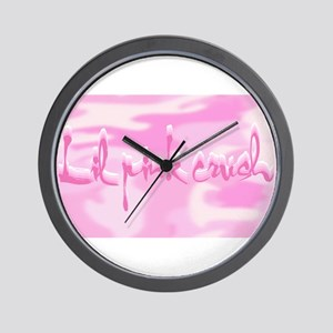 2-Lil Pink Crush Camouflage Wall Clock