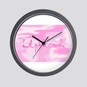 Lil Pink Crush Camouflage Wall Clock