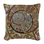 Celtic Steampunk Woven Throw Pillow