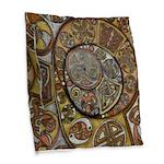 Celtic Steampunk Burlap Throw Pillow