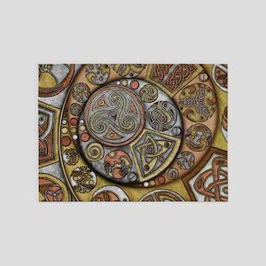 Celtic Steampunk 5'x7'Area Rug