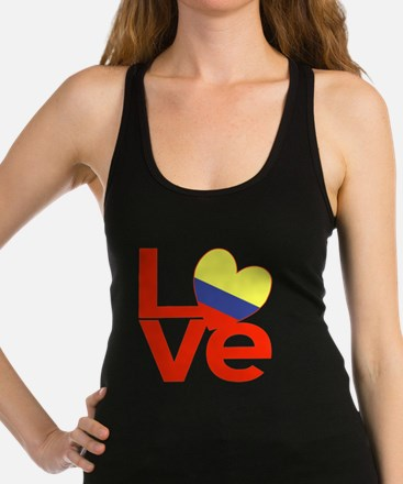 Red Colombia LOVE Racerback Tank Top