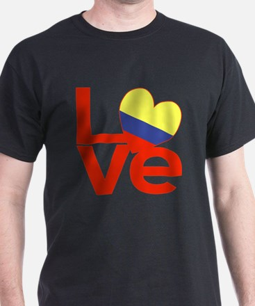 Red Colombia LOVE T-Shirt