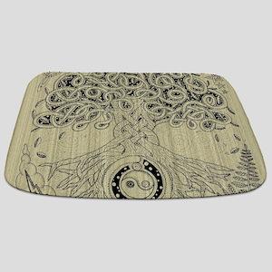 Circle Celtic Tree of Life Ink Bathmat
