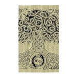 Circle Celtic Tree of Life Ink 3'x5' Area Rug