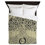 Circle Celtic Tree of Life Ink Queen Duvet