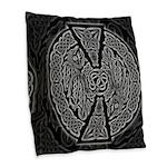 Celtic Dragons Burlap Throw Pillow