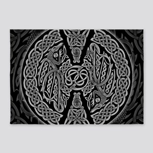 Celtic Dragons 5'x7'Area Rug