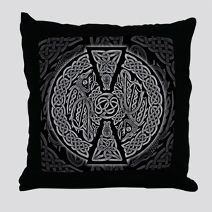 Celtic Dragons Throw Pillow
