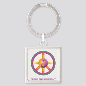 Peace and Harmony -logo and mission Keychains