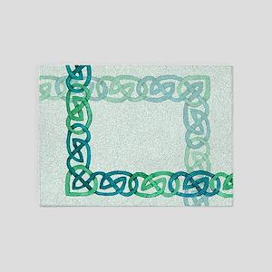 Celtic Watercolor 5'x7'Area Rug