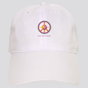 Peace and Harmony -logo and mission Baseball Cap