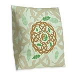 Celtic Balance Burlap Throw Pillow