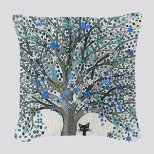 Oman Stray Cat Woven Throw Pillow