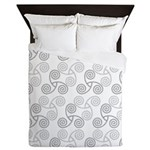 Celtic Triple Spiral Queen Duvet