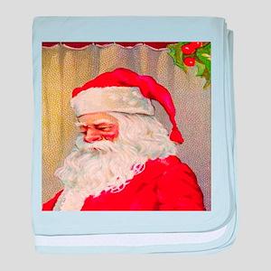 santa Claus, Vintage baby blanket