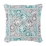 Celtic Puzzle Square Woven Throw Pillow