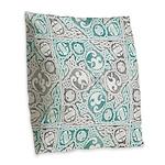 Celtic Puzzle Square Burlap Throw Pillow