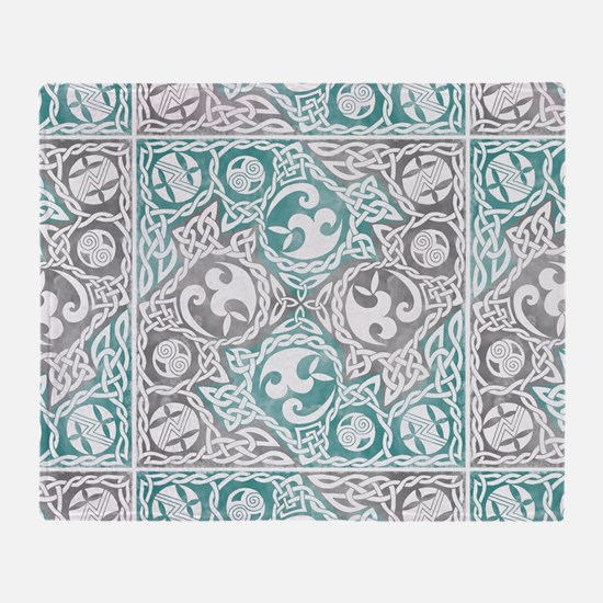 Celtic Puzzle Square Throw Blanket