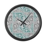 Celtic Puzzle Square Large Wall Clock