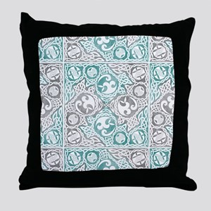 Celtic Puzzle Square Throw Pillow