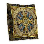 Celtic Compass Burlap Throw Pillow