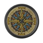 Celtic Compass Large Wall Clock