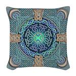 Celtic Eye of the World Woven Throw Pillow