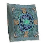 Celtic Eye of the World Burlap Throw Pillow