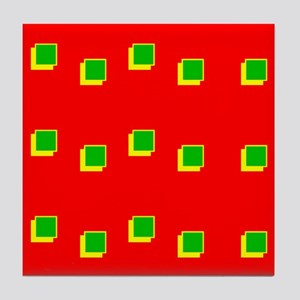 Red Green Colours Christmas Beveled S Tile Coaster