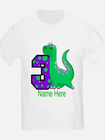 Dinosaur 3rd Birthday Custom T-Shirt