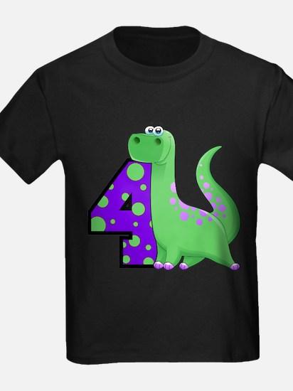 Dinosaur 4th Birthday T