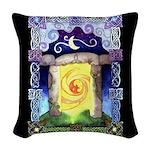 Celtic Doorway Woven Throw Pillow